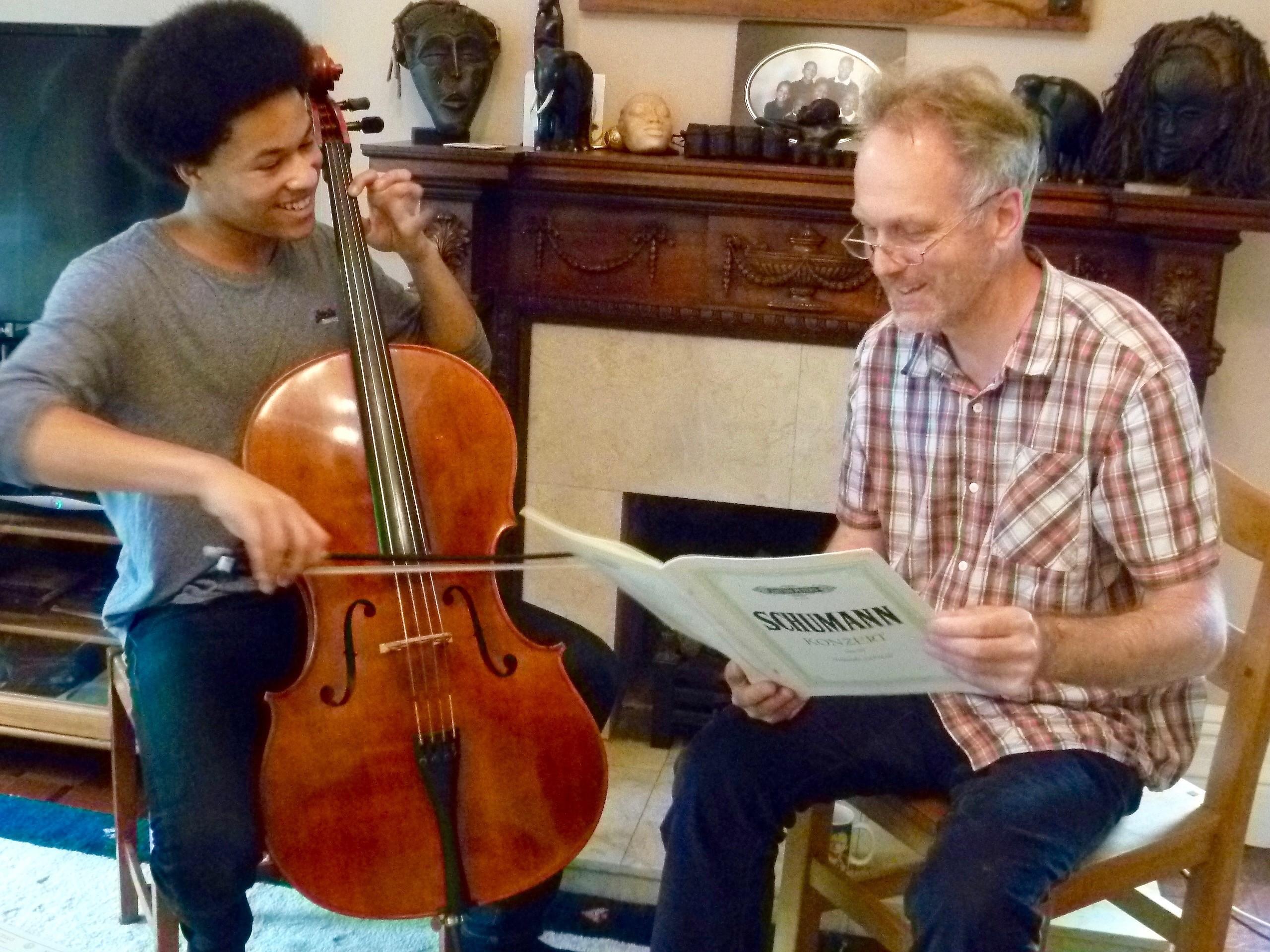 Photo of Ben Davies with Sheku Kanneh