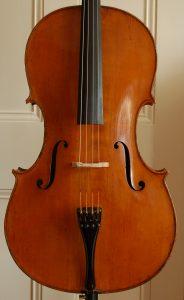 William Ebsworth Hill cello front